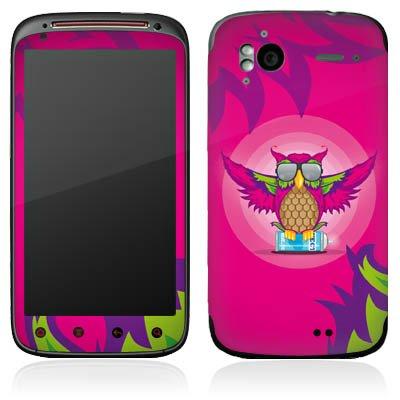 DeinDesign HTC Sensation XE Case Skin Sticker aus Vinyl-Folie Aufkleber Eule Pink Sonnenbrille