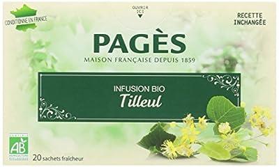 Pagès Infusion Tilleul Bio 20 sachets - Lot de 2