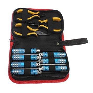 RC Reparatur Werkzeug - TOOGOO(R) 10 in 1 RC Hubschrauber Schraubendreher Zangen Hex Reparatur Werkzeug Set