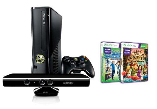 Xbox 360 4 GB Kinect + Kinect Sports 2 + Kinect Adventures