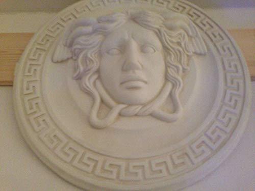 3D Relief Wandrelief Medusa Relief Mäander Wandbild Bild Kopf Taler 2657 k70 Kunstharz