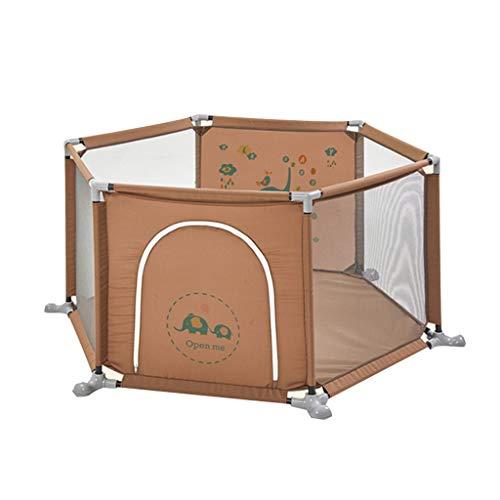 Parc pour enfants parc pour enfants Clôture de chambre hexagonale de séparation de pièce de clôture de chambre de clôture de tissu de maison de clôture hexagonale se pliante d'enfants, barrière conven