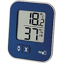 TFA Dostmann digitales termohigrómetro Moxx 30.5026 azul