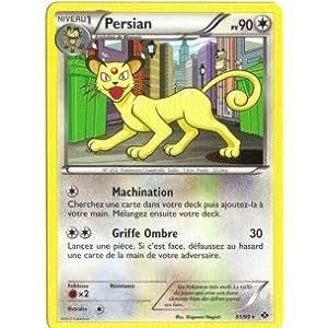 Carte Pokémon PERSIAN 81/99 NOIR & ET BLANC DESTINEES FUTURES RARE FR NEUVE