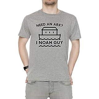 Need An Ark Herren T-Shirt Rundhals Grau Kurzarm Größe M Men's Grey Medium Size M