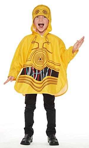 Star Wars C3PO Poncho Kids costume unisex Length 56cm 95661