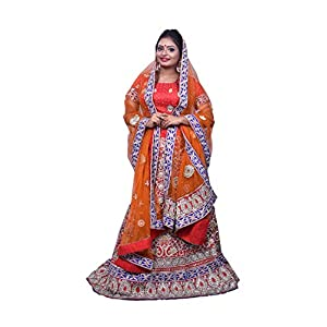 Riman Women's Designer Bridal Lehenga with Zardosi Hand Work