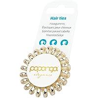 Original Papanga® Elastici per capelli a spirale, Elegance Edition, taglia: Small, colore: Golden Elegance