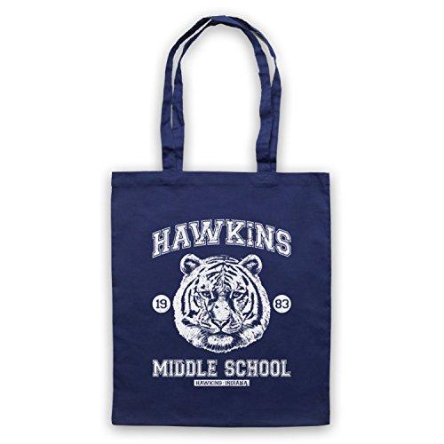 Inspire par Stranger Things Hawkins Middle School 1983 Officieux Sac d'emballage
