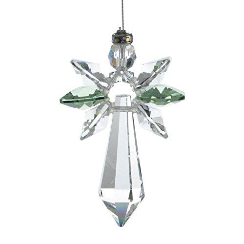Cristal de la Suerte con diseño de ángel, Cristal, Peridot, 19,4 x 3,5 x 1 cm