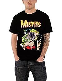 Misfits T Shirt Die Die Revisited Classic Band Logo Offiziell Herren Nue