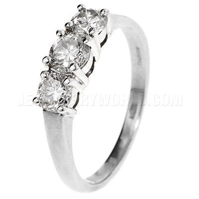 1ct Diamond 18ct White Gold Trilogy Ring