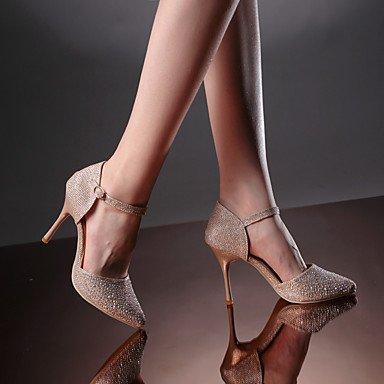 Moda Donna Sandali Sexy donna inverno tacchi d' Orsay & in due pezzi Wedding / Party & sera abito / Stiletto Heel fibbia argento / Oro Altri golden