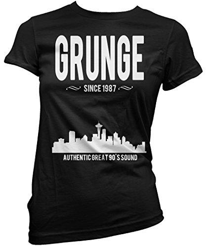 T-shirt Donna Grunge since 1987 - Maglietta 100% cotone LaMAGLIERIA Nero
