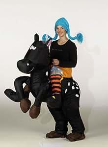 karneval kost m aufblasbar fasching pferd reiter wilde hilde spielzeug. Black Bedroom Furniture Sets. Home Design Ideas