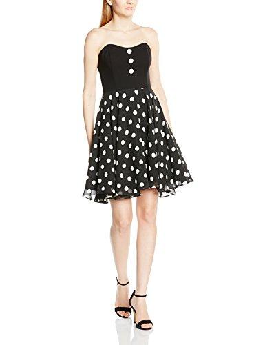 Swing - 77756810, Vestito da donna nero (nero/bianco 1094)