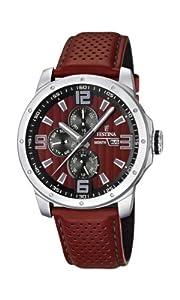 Reloj Festina F16585/1 de cuarzo para hombre con correa de piel, color rojo de Festina