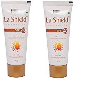 La Shield Sunscreen Gel SPF 40,Oil Free and Dermatologist Tested, 60 gms (Pack Of 2)
