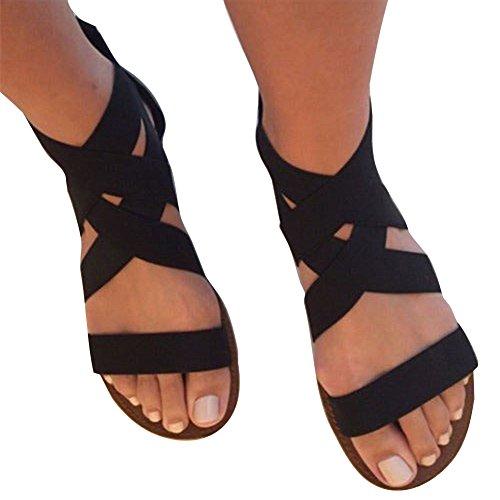 Sandalias Mujer Verano Zapatos Planas Peep Toe Sandalias