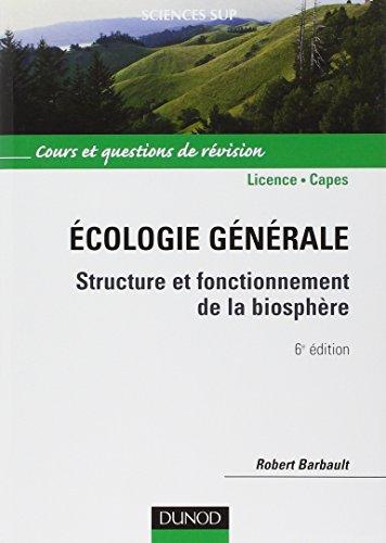 Écologie générale - 6ème édition -...