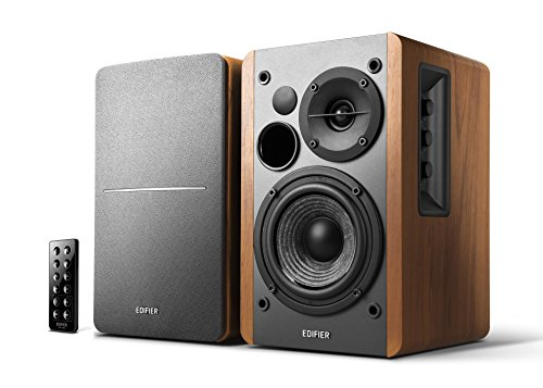 Edifier R1280DB Active Remote Control Bookshelf Studio Speakers with Bluetooth, 2 x RCA Line In, Optical and Coaxial connections, Built in Amplifier Perfect for Laptop, PC, MAC, Phone, and Hi-Fi -Maple WOOD