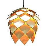 Holz Pendelleuchte Hanging Pine Cone - DIY Droplight Deckenleuchte Home Dekorative Leuchten(Glühbirne Nicht im Lieferumfang Enthalten)