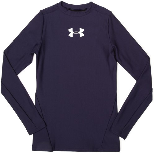 Under Armour Youth Coldgear Long Sleeve Crew Navy Large (Armour Youth Under Coldgear)