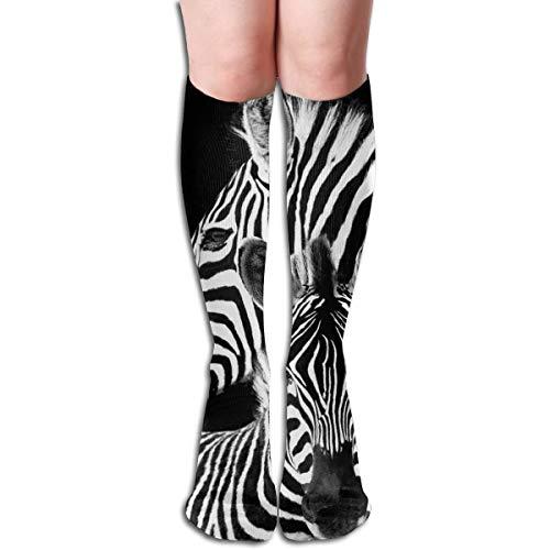 ghkfgkfgk Zebra Männer Und Frauen Kompression Kniestrümpfe Hohe Fitness Neuheit Strümpfe 50 Cm Stilvolles Design