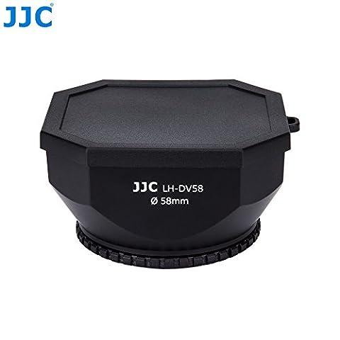 JJC DV-s Sonnenblende/ Gegenlichtblende/ Streulichblende für Videokamera Camcorder 58mm