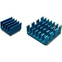 gorillapi disipador de calor para Raspberry Pi 2Model B/Pi 3. 2pc Set (X2) de aluminio con Pre instalado refrigeración disipador de calor adhesivo ofreciendo un gran ventaja