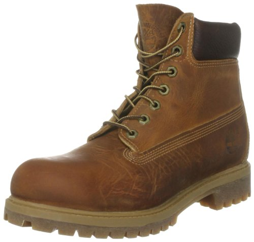 "Timberland Herren 6 6"" Premium Boot Kurzschaft Stiefel Braun (Burnt Orange Worn Oiled)"