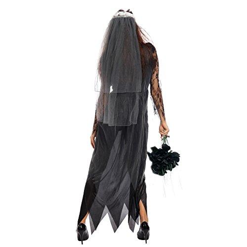 Imagen de maboobie  maboobie  disfraz de novia de la muerte classic zombie para mujer adulto fiestas temáticas carnavales halloween talla xxl  alternativa