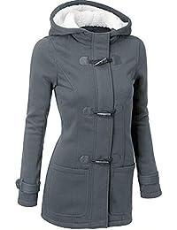 Femme Pas Cher Printemps Manteaux à Capuche, Gilet Bouton éPais Blouson  Hiver Hoodie Veste Jacket bc3d594362e2