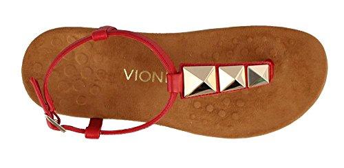 T Con Vionic Donna rosso Rosso A Nala Cinghia Nero wUXp77x