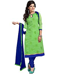 Florence Women's Cotton Salwar Suit Dress Material(SB-2901_Green_Free Size)