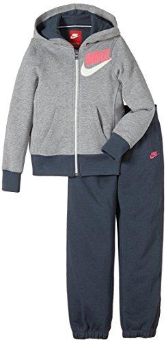 Nike Mädchen Trainingsanzug Dres SB Cuffed Warm Up Dark Grey Heather/Hyper Pink, L