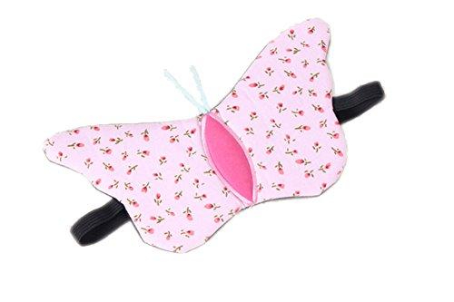 DaoRier Schmetterling Form Augen Schatten Abdeckung Schlafmaske Eye Schlafmaske, Rose, 22 x 12cm