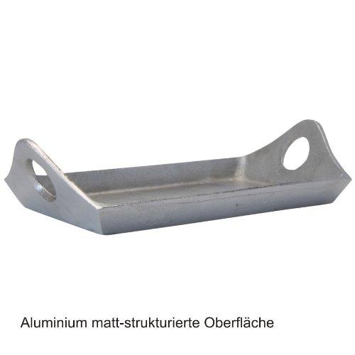 Tablett Serviertablett 35x19cm Aluminium matt Dekotablett Obsttablett