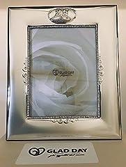 Idea Regalo - Subito disponibile Cornice Portafoto 20X24 cm RICORDO Nozze Argento 25 Anni Matrimonio ARGE