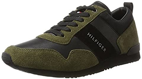 Tommy Hilfiger M2285Axwell 11C5, Baskets Basses Homme, (Olive Night-Black), 43