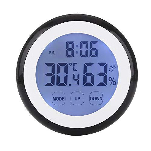 Lecimo Digital Thermometer Hygrometer Uhr, Innentemperatur Luftfeuchtigkeit Monitor Wecker Touchscreen Mit Hintergrundbeleuchtung Magnetische Zurück Für Home Office, 1# -