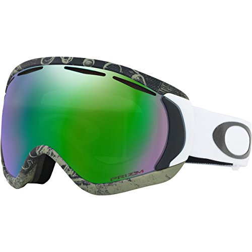 Oakley Canopy Asian Fit Snow Goggles, Turntable Green Frame, Prizm Jade Iridium Lens, Large