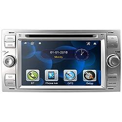 hizpo Double Din 7 Pouces Autoradio GPS Navigation Dashboard in Dash Headunit pour Ford Focus Support Écran Tactile Bluetooth RDS Miroir Lien Commande au Volant Caméra de recul