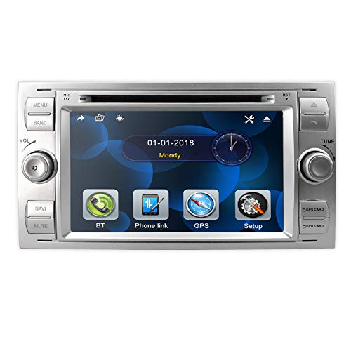 hizpo Double DIN 7 Pulgadas Radio de Coche Navegación GPS Adaptable para...