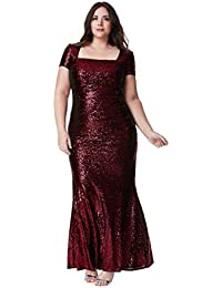 Goddiva Wine Long Square Neck Cap Sleeve Sequin Evening Dress Prom Ball Gown 25cb89c5f568f
