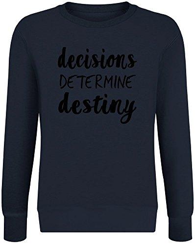 Entscheidung Schicksal bestimmen - Decision Determine Destiny Sweatshirt Jumper Pullover for Men & Women Soft Cotton & Polyester Blend Unisex Clothing X-Large