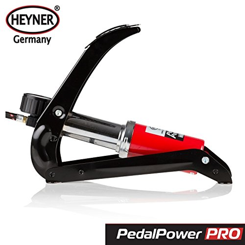 "Heyner, ""PedalPower Pro"", Fußpumpe mit Manometer, 7 Bar, 100 PSI  -"