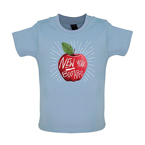 The Big Apple NYC - Baby T-Shirt - Taubenblau - 18 bis 24 Monate - Big Apple Baby T-shirt