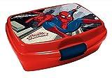 Kinder Brotdose / Lunchbox / Sandwich Box wählbar: Spiderman - Batman - Thomas - Mickey aus Kunststoff BPA frei - Geschenk für Jungen - Spiderman