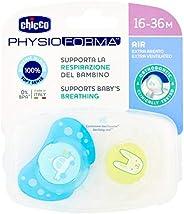 Chicco Succhietto Physio Air in Silicone, Ciuccio per Bimbo, 16-36 Mesi, 2 Pezzi, Colori Assortiti